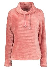 Pink Soft Textured Fleece Pullover
