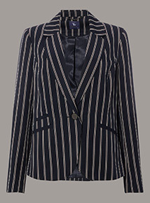Premium Striped Blazer