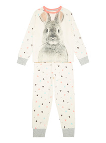 Cream Winter Bunny Pyjama Set (1-12 years)