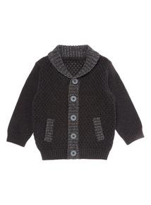 Boys Grey Knitted Cardigan (0-24 months)