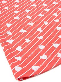 Red Stripe Heart Print Swing Dress (3-14 years)