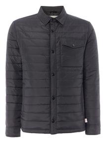 Black Padded Shirt Jacket