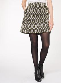 Stud Detail A Line Skirt
