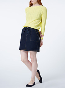 Yellow Pointelle Knit Jumper