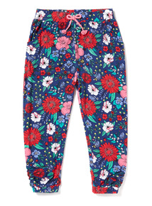 Multicoloured Floral Print Harem Trousers (9 months-6 years)