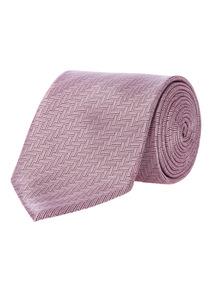Pink Herringbone Tie