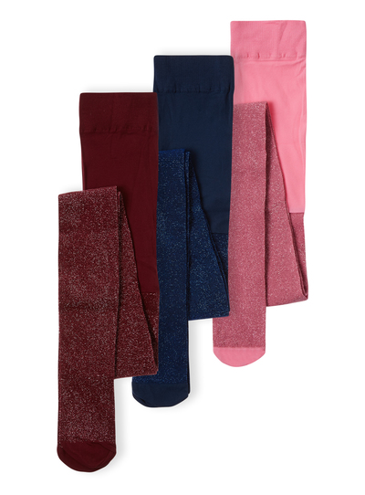 d9ccefa83d867 Kids Girls Multicoloured Glitter Tights 3 Pack (2-12 years) | Tu clothing