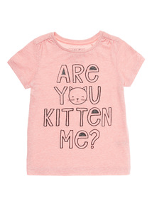 Pink Kitten Glitter Tee (9 months - 6 years)