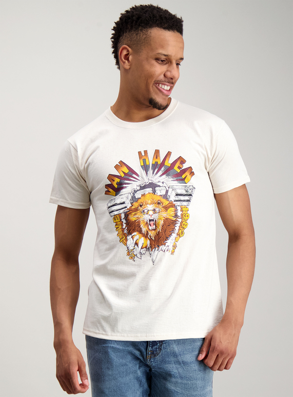 3fa44760d358 Menswear Cream Van Halen T-Shirt   Tu clothing