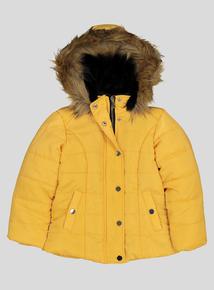Mustard Puffer Coat (3 - 14 Years)