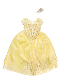 Girls Yellow Disney Belle Costume (3-10 years)