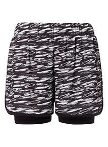 Streak Printed Active Shorts