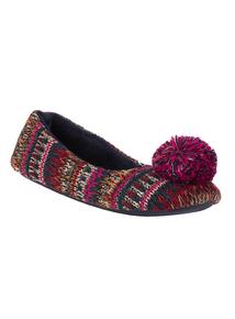 Multi-coloured Knit Ballerina Slippers