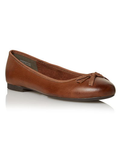 601d9301a98 Womens Tan Leather Ballerina Pumps