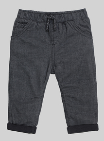 Charcoal Grey Corduroy Trousers (0-24 months)