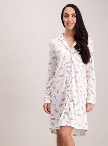 Cream Prosecco Print Nightshirt