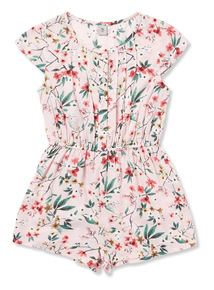 Multicoloured Floral Printed Playsuit
