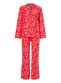 Red Star Flannel Traditional Pyjama Set