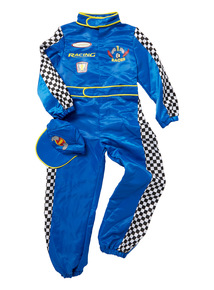 Blue Racing Car Driver Costume (7 - 12 years)