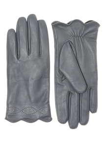 Leather Scalloped Glove