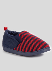 Blue & Red Striped Slipper (10-6)