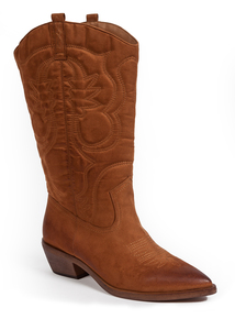 Tanned Brown Cowboy Boots