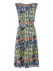 Printed Sateen Dress