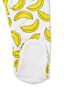 3 Pack Multicoloured Banana Print Sleepsuits (Newborn-24 months)