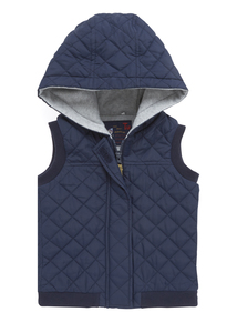 Boys Blue Hooded Gilet (0-24 months)