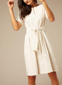 Premium Striped Linen Dress