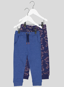 Blue Patterned Joggers 2 Pack (9 Months - 6 Years)