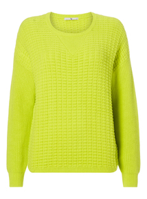 Lime Textured Slouch Jumper
