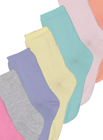d189c561d Multicoloured Pastel Ankle Socks 7 Pack