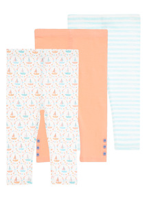 Ahoy There Leggings 3 Pack (0 - 24 months)