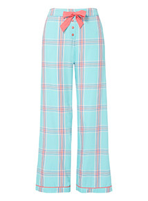Aqua Check Full Leg Pyjama Bottoms