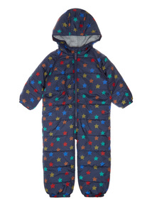 Navy Star Print Snowsuit (9 months - 6 years)