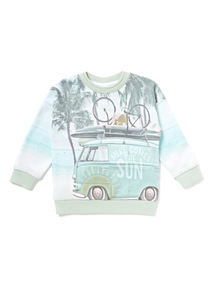 Multicoloured Camper Van Print Sweat (9 months-6 years)