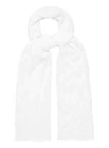 White Mother's Day Chambray Scarf