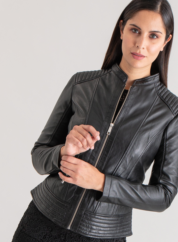 41118dd946d02 Womens Premium Black Leather Biker Jacket | Tu clothing
