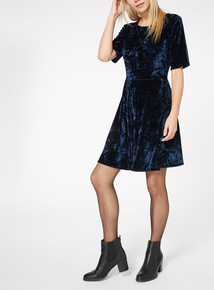 Crushed Velvet Velour Dress