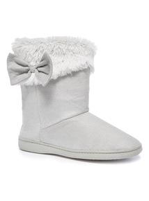 Bow Cupsole Slipper Boot