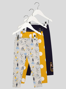 Multicoloured Doodle Leggings 3 Pack (9 months - 6 years)