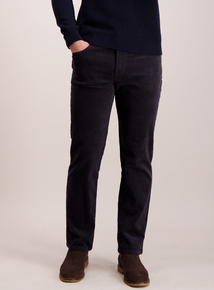 Charcoal Grey Straight Fit Cords