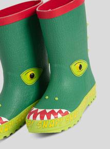 Green Croc Novelty Wellies (6 infant - 4 child)