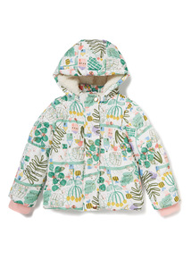 Multicoloured Printed Puffer Coat (9 months-6 years)
