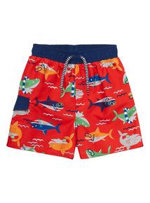 Multicoloured Snorkel Shark Shorts (9 months - 5 years)