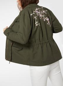 Embroidered Back Jacket
