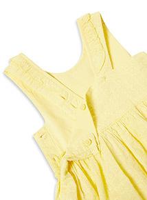 Yellow Woven Broderie Dress (0-24 months)