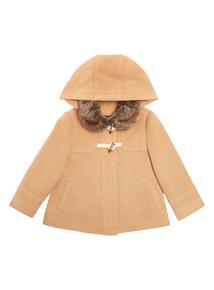 Girls Brown Duffle Coat (9 months - 6 years)