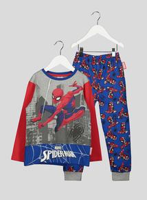 Marvel Spiderman Long Sleeve Pyjamas (2- 12 Years)